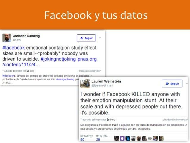 Facebook y tus datos