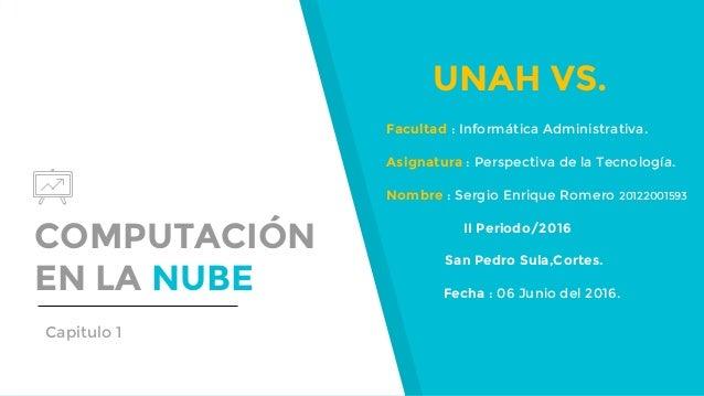 COMPUTACIÓN EN LA NUBE UNAH VS. Facultad : Informática Administrativa. Asignatura : Perspectiva de la Tecnología. Nombre :...