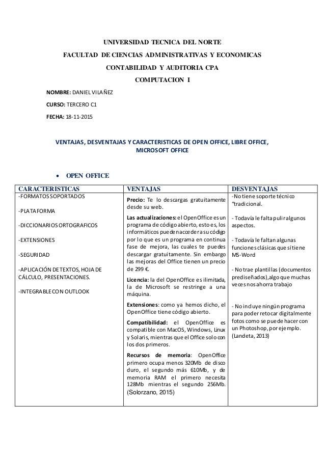 UNIVERSIDAD TECNICA DEL NORTE FACULTAD DE CIENCIAS ADMINISTRATIVAS Y ECONOMICAS CONTABILIDAD Y AUDITORIA CPA COMPUTACION I...