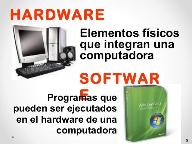 Componentes basicos del computador for Elementos de hardware