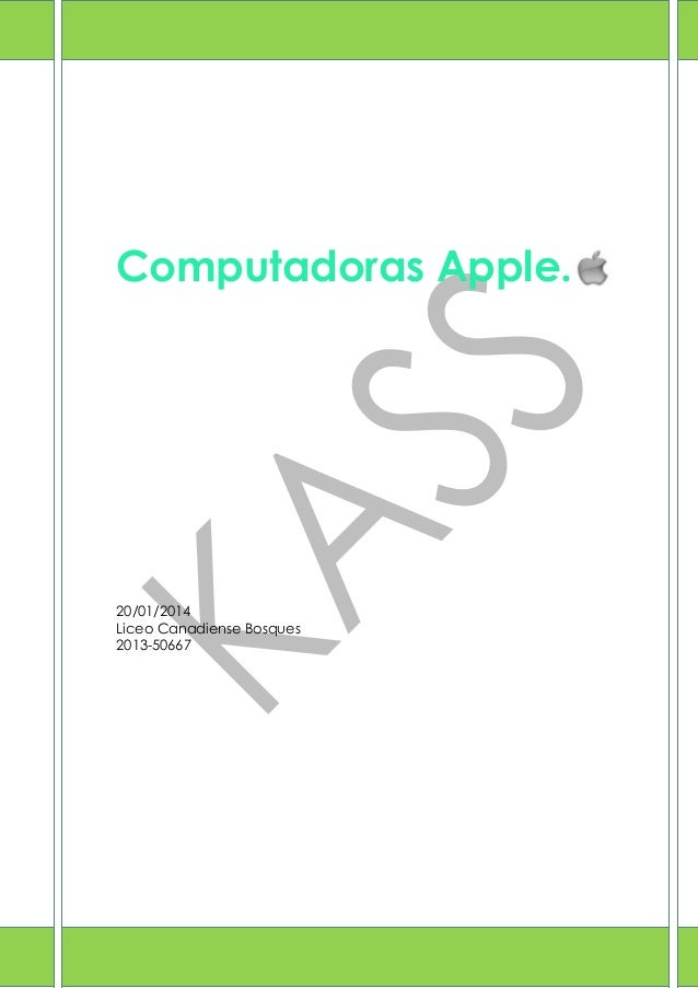 Computadoras Apple.  20/01/2014 Liceo Canadiense Bosques 2013-50667