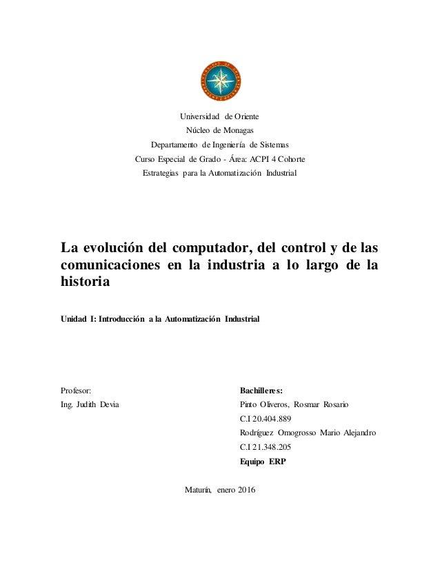 Universidad de Oriente Núcleo de Monagas Departamento de Ingeniería de Sistemas Curso Especial de Grado - Área: ACPI 4 Coh...