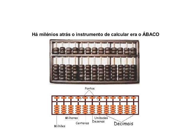 Há milénios atrás o instrumento de calcular era o ÁBACO