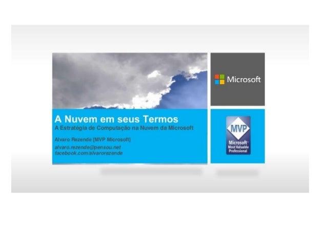 Computação em nuvem microsoft