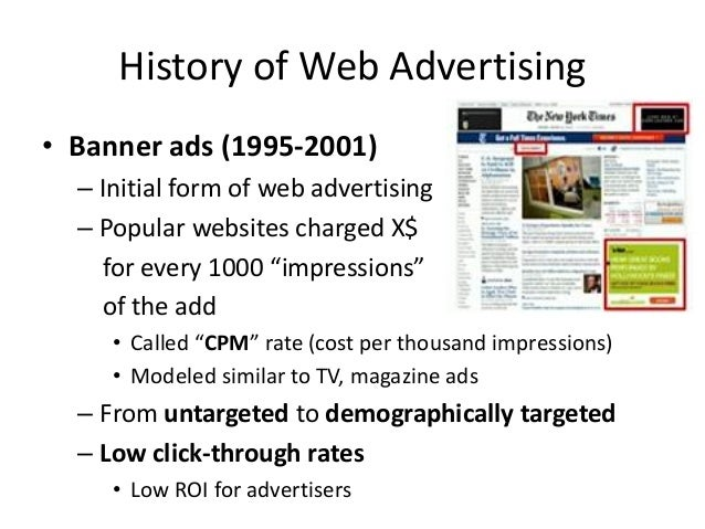 Performance-based Advertising • Introduced by Overture around 2000 – Advertisers bid on search keywords – When someone sea...