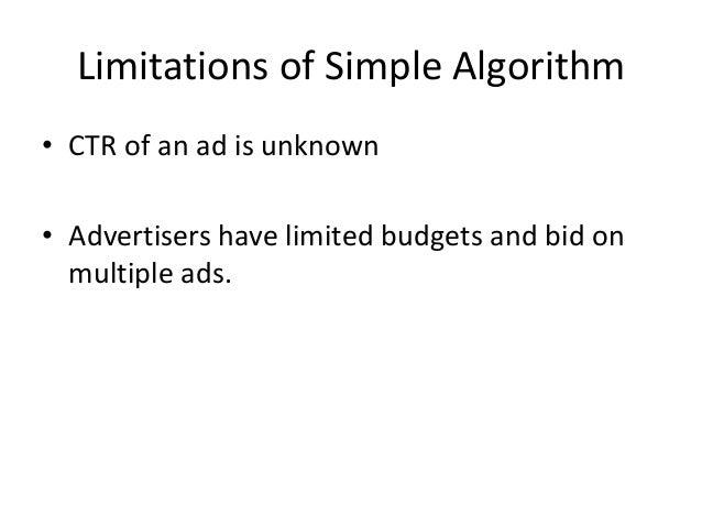 Future Work • Estimation of CTR • Algorithm to solve limited budgets problem (Balance Algorithm)