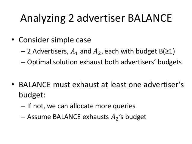 Analyzing Balance