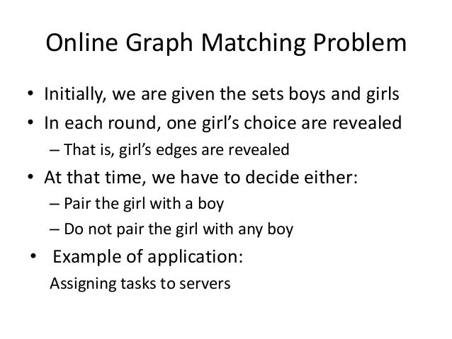 Online Graph Matching: Example