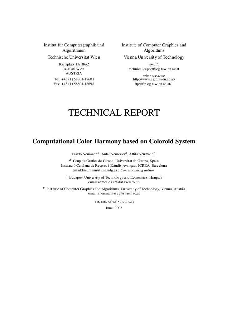 Institut f¨ r Computergraphik und             u                                      Institute of Computer Graphics and   ...