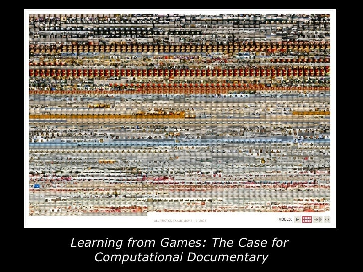 Learning from Games: The Case for  Computational Documentary