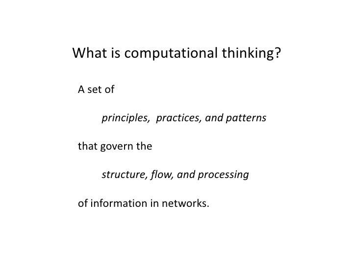 Computational Thinking Slide 2