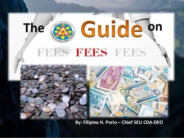 By: Filipina H. Porio – Chief SEU CDA-DEO