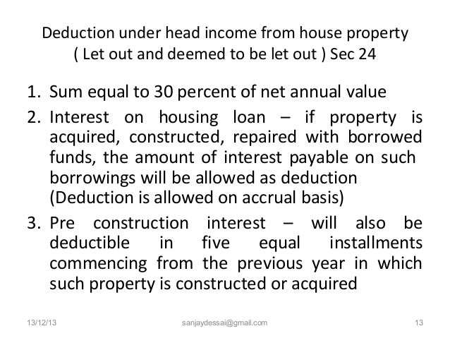 Tax on Rental Income or Let-Out House Property [AY 2018-19]