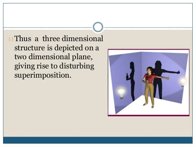 Thus a three dimensional structure is depicted on a two dimensional plane, giving rise to disturbing superimposition.
