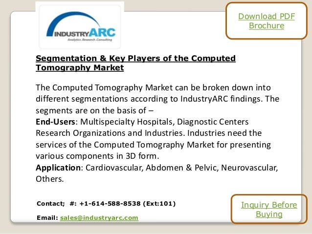Segmentation & Key Players of the Computed Tomography Market The Computed Tomography Market can be broken down into differ...