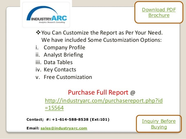 You Can Customize the Report as Per Your Need. We have included Some Customization Options: i. Company Profile ii. Analys...