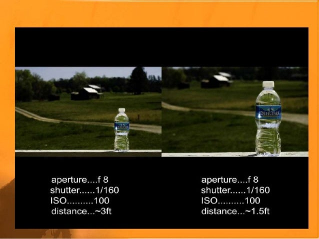 RESULTS OF VARYING SHUTTER SPEED