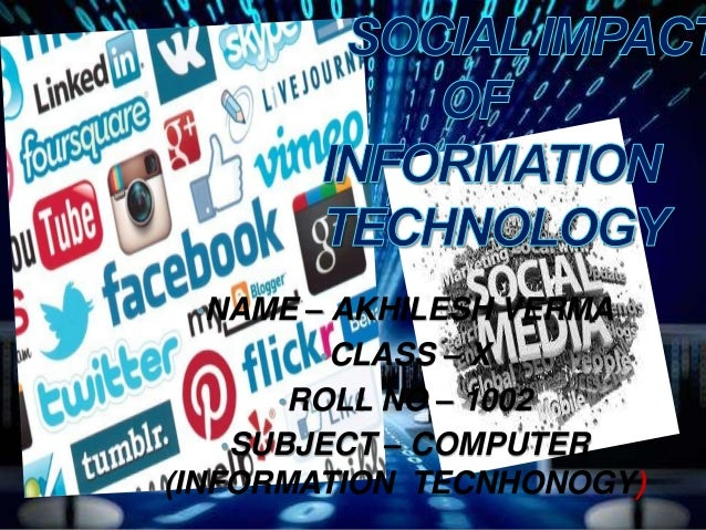 societal impact of information technology class 10 pdf