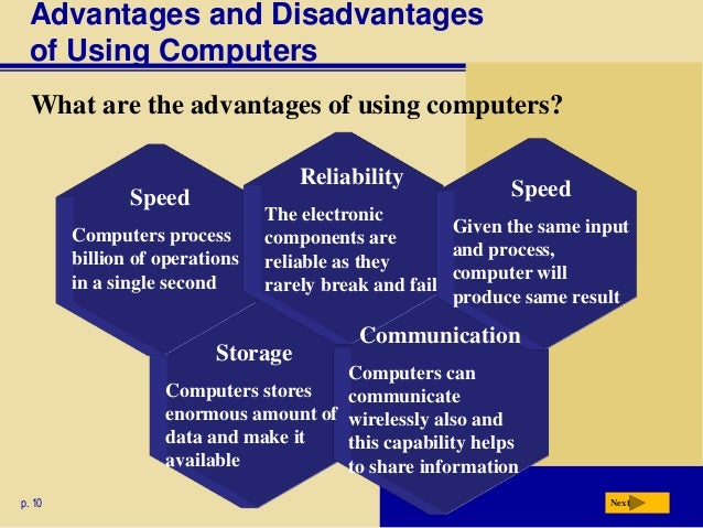 the advantages of using a computerized What are the advantages and disadvantages of using a pc package like myob or quikcbooks, in comparison with using a manual accounting system.