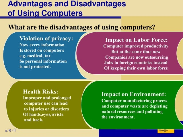 advantages and disadvantages of personal computer Pros & cons of computer | advantages and disadvantages of advantages of computer | disadvantages of computers are not only use for personal purpose that is.