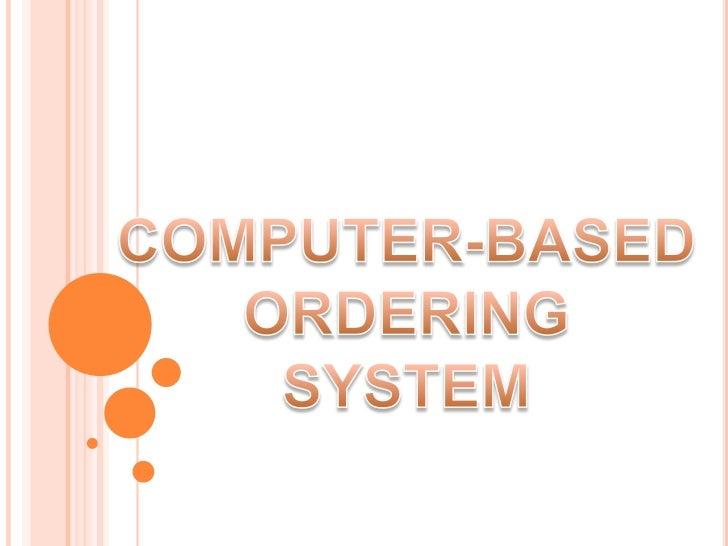 online ordering system essay
