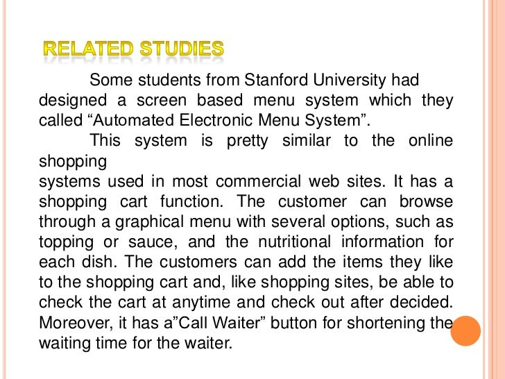 problems on manual ordering system What are problems of manual systems the main problem in the manual enrollment flow is that the students consumed and ordering supplies can be off if.