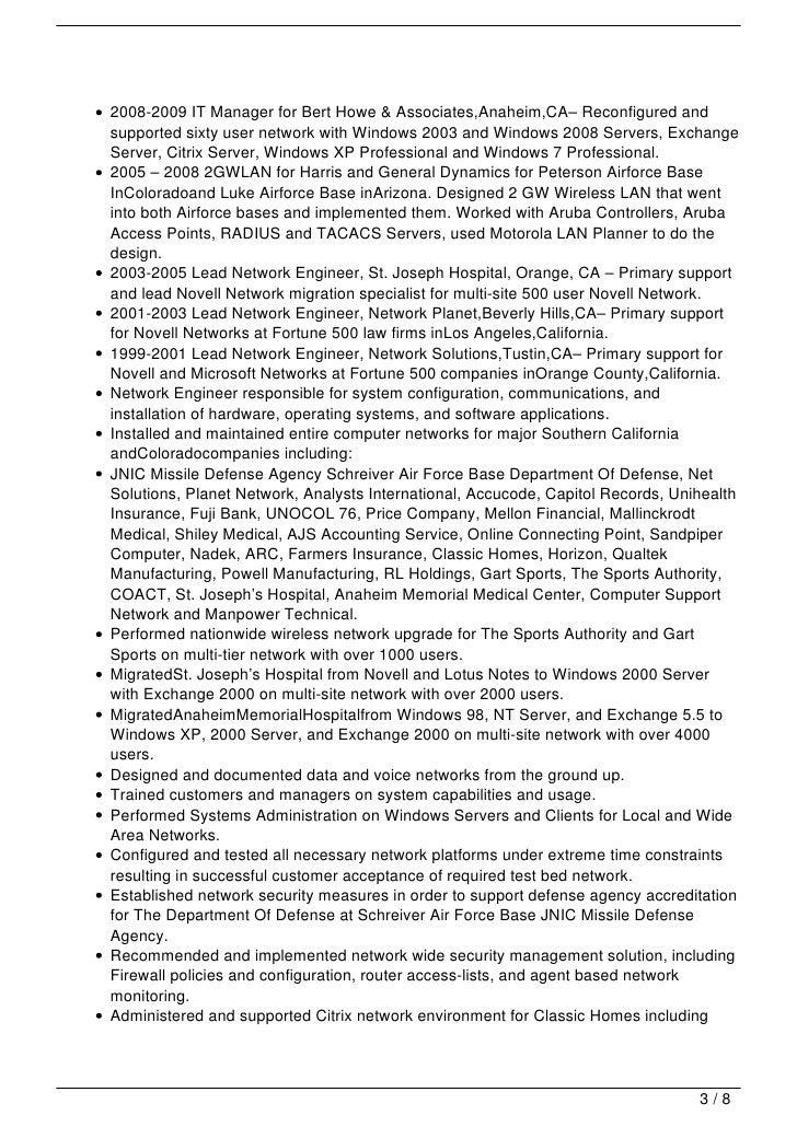 computer consultant resume