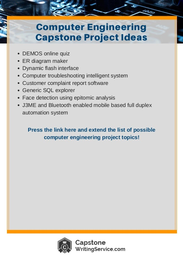 Computer Engineering Capstone Project Ideas