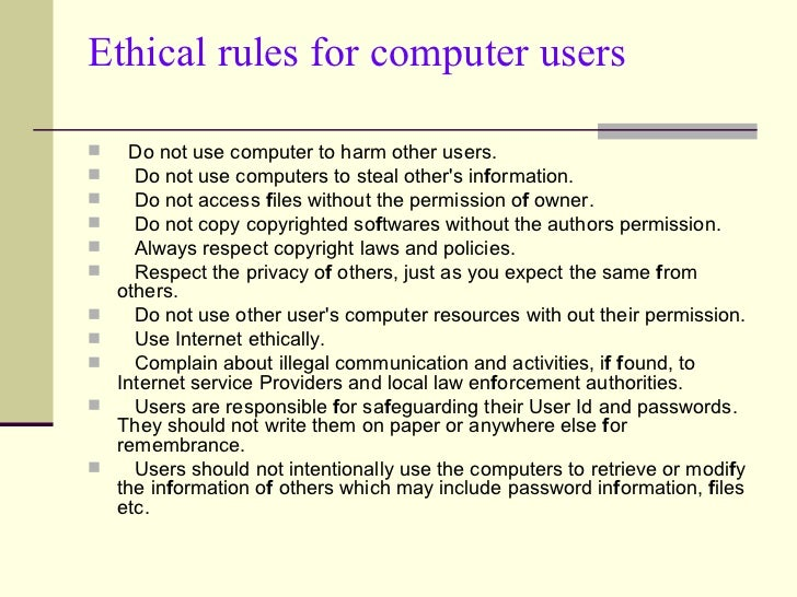 term paper on computer ethics