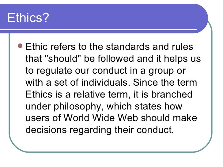 computer ethics essays Free essay: that is one of the reasons why it is so important to develop a code of ethics for computers and the it field use of the code of ethics in my.
