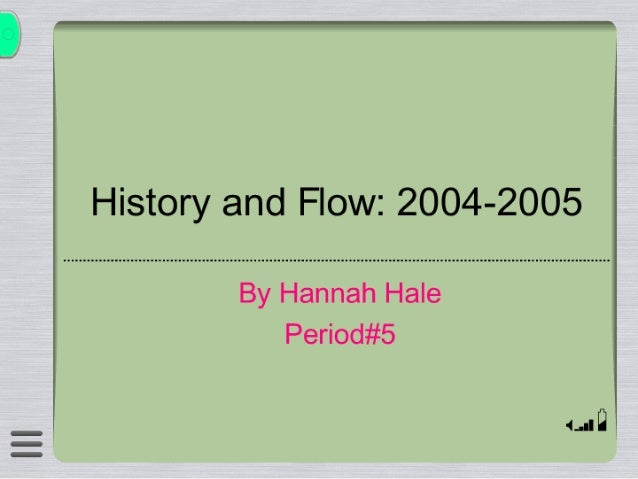 computer history and flow 2004-2005
