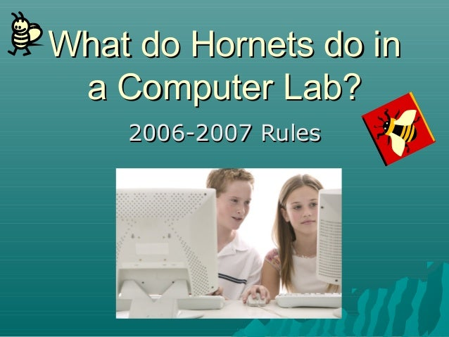 What do Hornets do inWhat do Hornets do in a Computer Lab?a Computer Lab? 2006-2007 Rules2006-2007 Rules