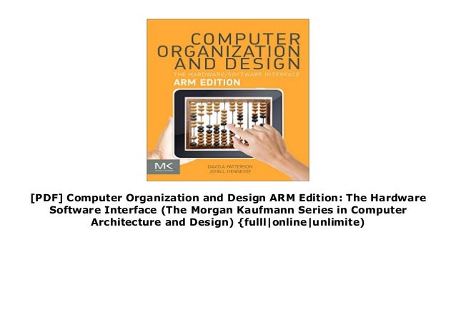 Pdf Computer Organization And Design Arm Edition The Hardware Soft