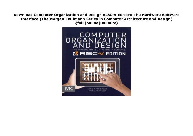 Download Computer Organization And Design Risc V Edition The Hardwar