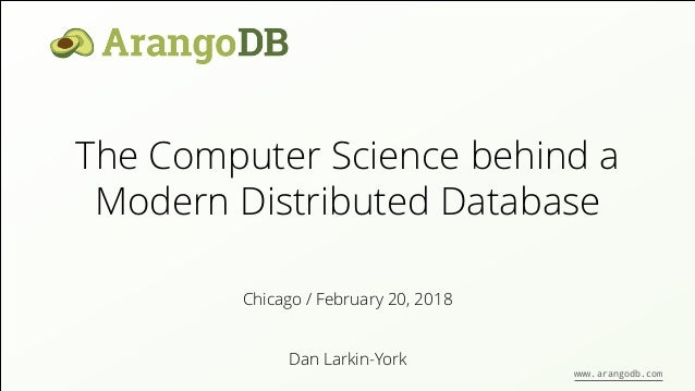 The Computer Science Behind a modern Distributed Database