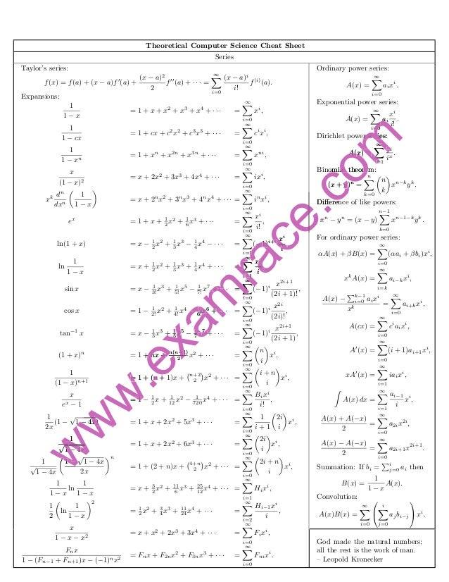 Computer science-formulas