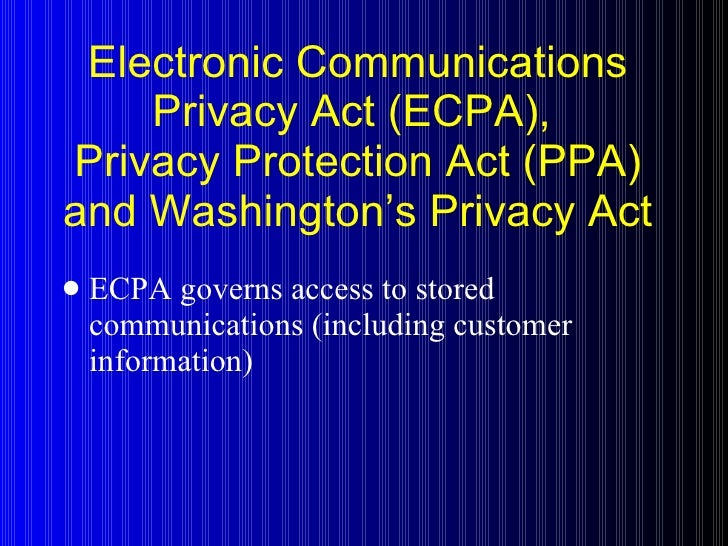 the fourth amendment and stored communication act In recent months the supreme court heard oral argument in carpenter vunited states and united states vmicrosoft, cases addressing the stored communications act's (sca) applicability to modern privacy issues.