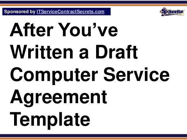 Computer service agreement template glossary definition for Computer repair service agreement template