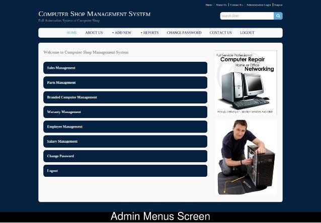JSP Project on Computer Shop Management System