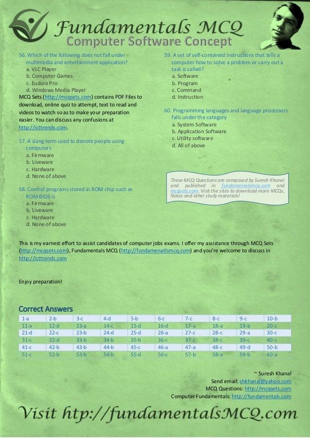 Computer software-concepts-mcq-paper