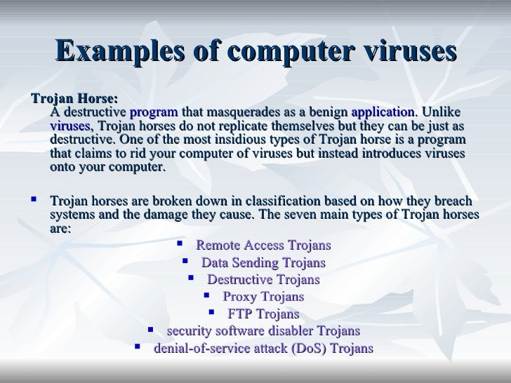 the main characteristics of computer viruses Present its main characteristics your computer has been infected with a virus us-cert and ccirc recommend users and administrators take the following preventive measures to protect their computer networks from ransomware infection.