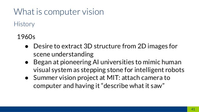 Computer Vision – From traditional approaches to deep neural networks