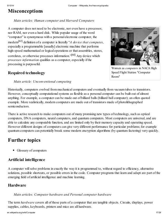 Computer wikipedia, the free encyclopedia