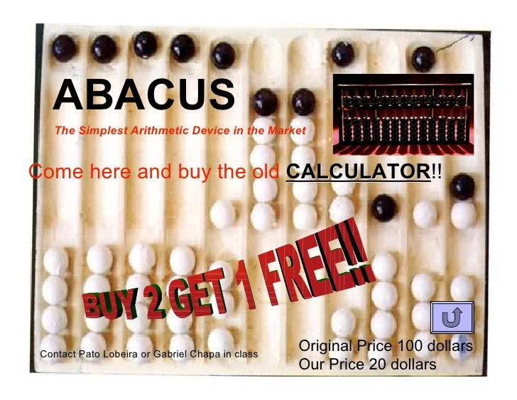 ABACUS     The Simplest Arithmetic Device in the Market   Come here and buy the old CALCULATOR!!                          ...