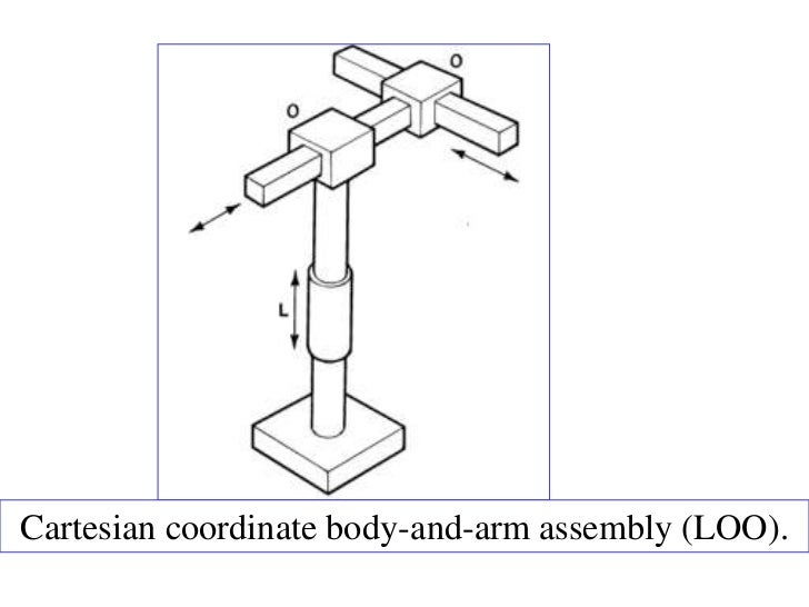 Cartesian coordinate body-and-arm assembly (LOO).
