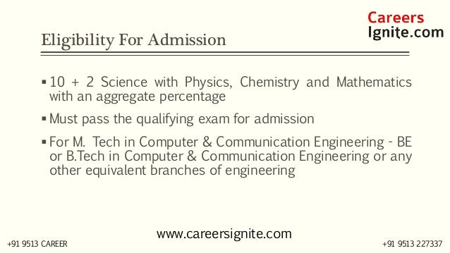 Computer and Communication Engineering Courses, Colleges, Eligibility Slide 3