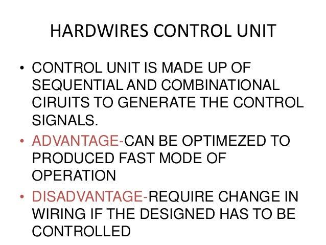 block diagram of hardwired control unit