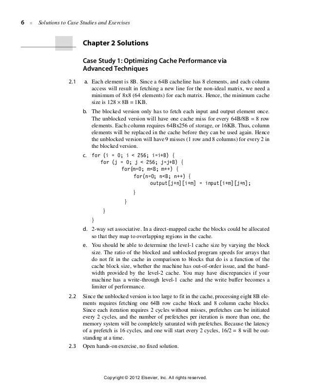 computer architecture a quantitative approach solution for 5th edit rh slideshare net computer organization and architecture solution manual 8th edition advanced computer architecture solution manual pdf