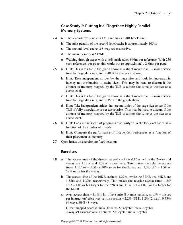 Computer Architecture A Quantitative Approach Solution For 5th Edit