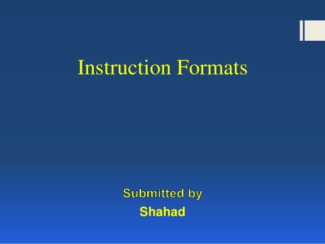 Instruction format | computer science.